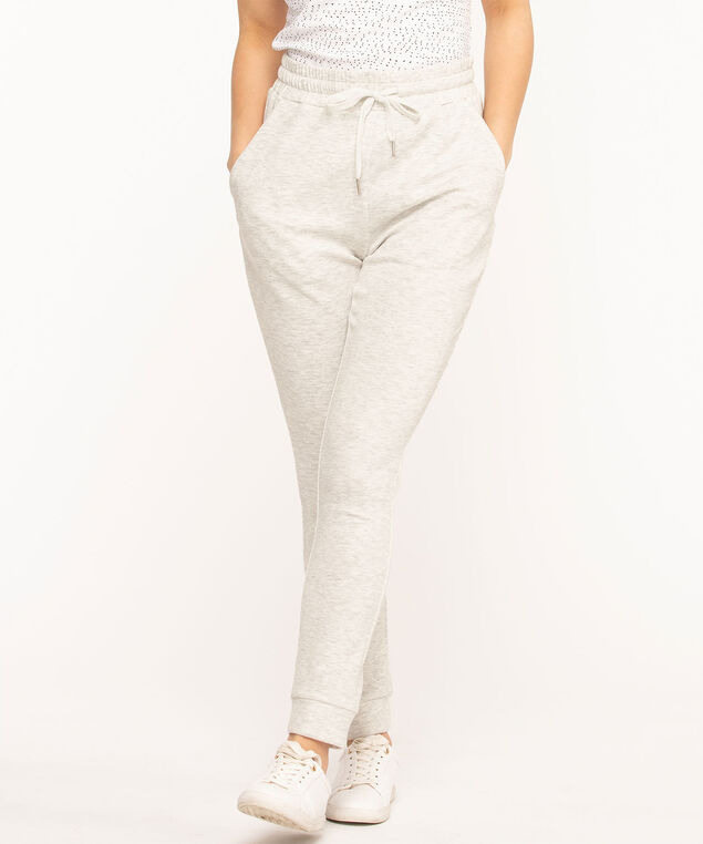 Pull On Jogger Ankle Pant, Light Grey Mix