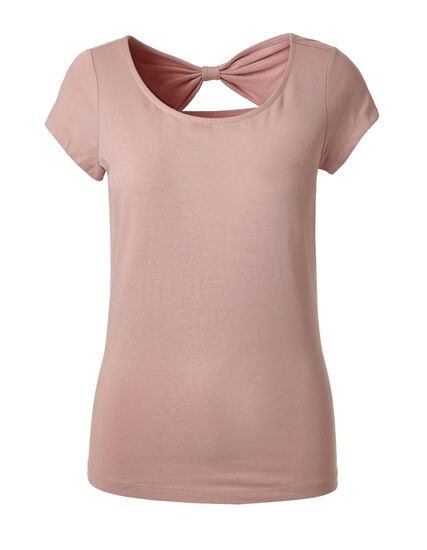Pink Bow Back Cotton Tee, Cotton Candy, hi-res