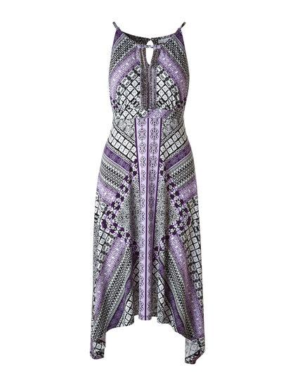 Purple Beaded Halter Maxi Dress, Purple, hi-res