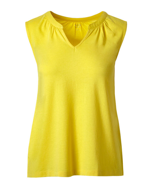 Yellow Sleeveless Tee, Sunshine Yellow, hi-res