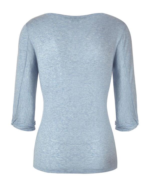 Light Blue Knot Detail Pullover, Light Blue, hi-res