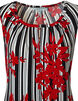 Red Abstract Floral Top, Red/Black/White, hi-res