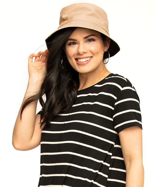 Reversible Bucket Hat, Tan