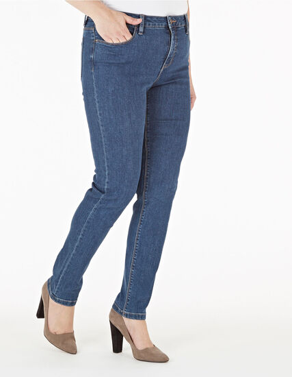 Mid Wash Slim Leg Jean, Mid Wash, hi-res
