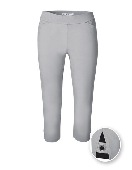 Light Grey Capri Pull On Pant, Light Grey, hi-res