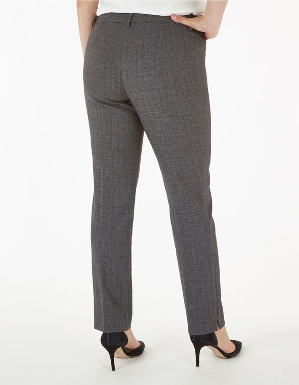 Grey Slim Leg Trouser, Grey, hi-res