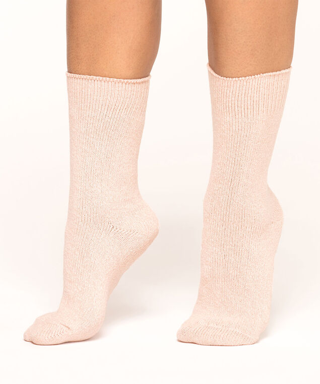 Cozy Work Sock 2-Pack, Grey Mix/Ballet Pink