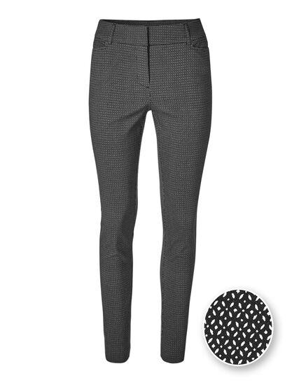 Black Printed Signature Skinny Pant, Black, hi-res