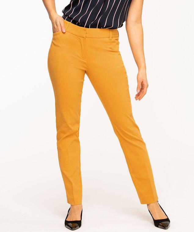 Gold Slim Leg Pant, Gold