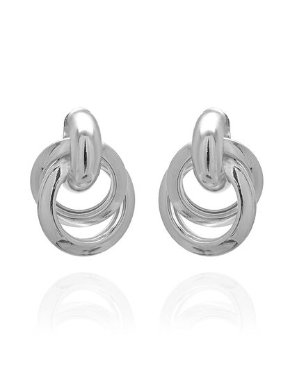 Silver Knot Earring, Silver, hi-res