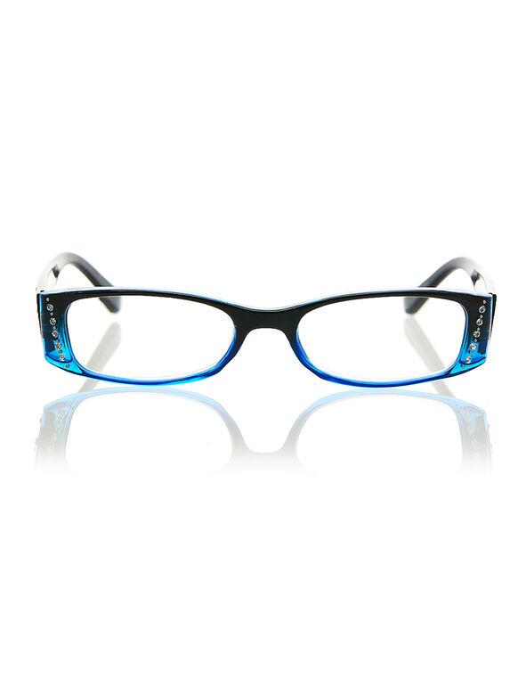 Blue Printed Rectangle Reader, Blue, hi-res