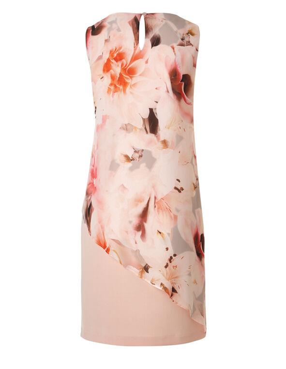 Light Apricot Popover Shift Dress, Pink, hi-res