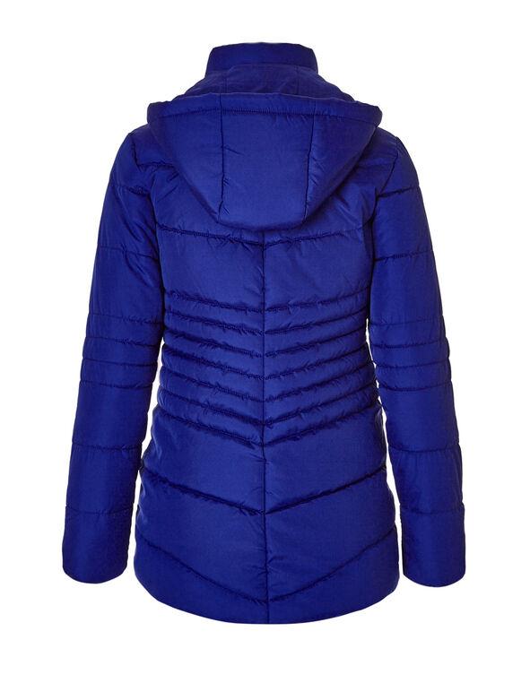 Cobalt Polyfill Diamond Jacket, Cobalt, hi-res
