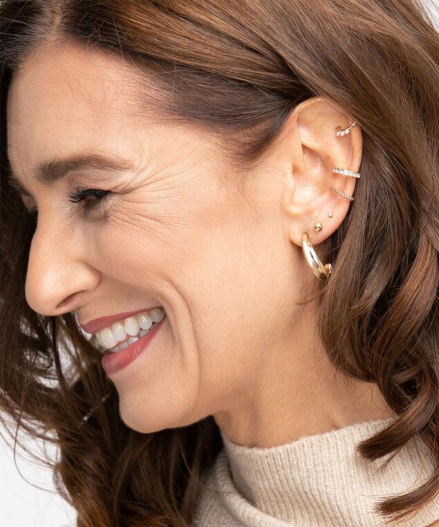 Gold Ear Cuff 3-Pack, Gold