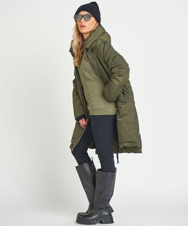 Dex Hooded Puffer Jacket, Khaki