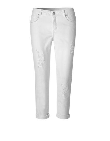White Rip Repair Crop Jean, White, hi-res