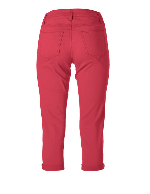 Hot Pink Denim Capri, Hot Pink, hi-res