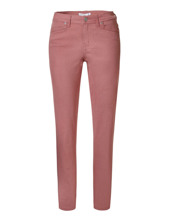 Misty Rose Cotton Slim Leg Jean, Rose, hi-res