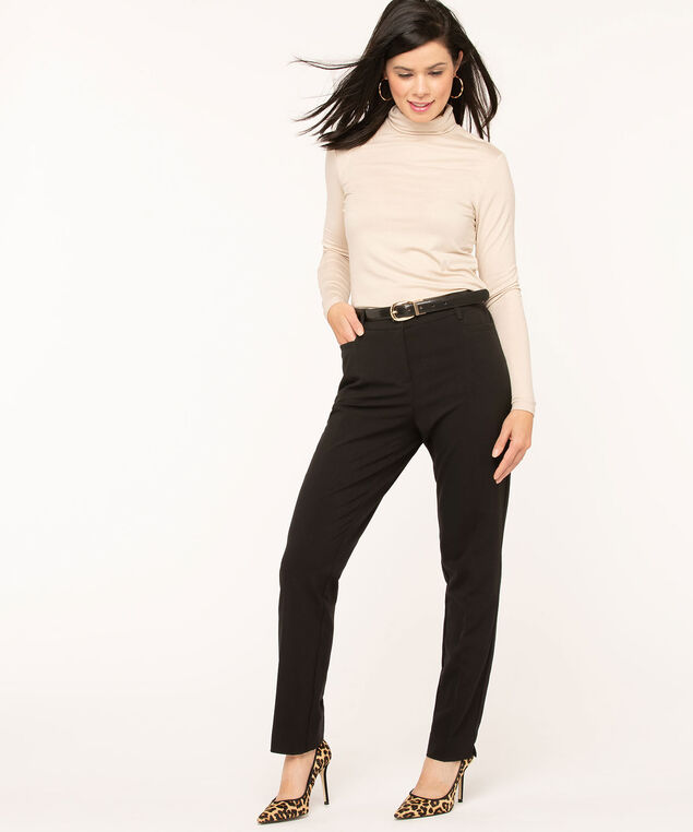 Black Slim Pant - Long, Black, hi-res