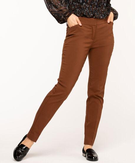 Copper Brown Slim Leg Pant, Copper Brown, hi-res