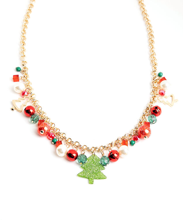 Holiday Charm Necklace, Gold