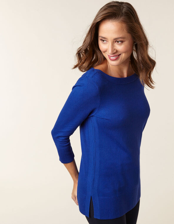 Sapphire Essential Sweater, Blue, hi-res