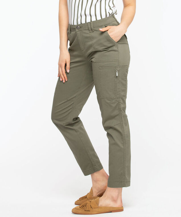 Chino Cargo Ankle Pant, Olive