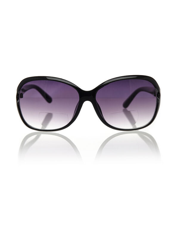 Black Bi-Focal Sunglasses, Black