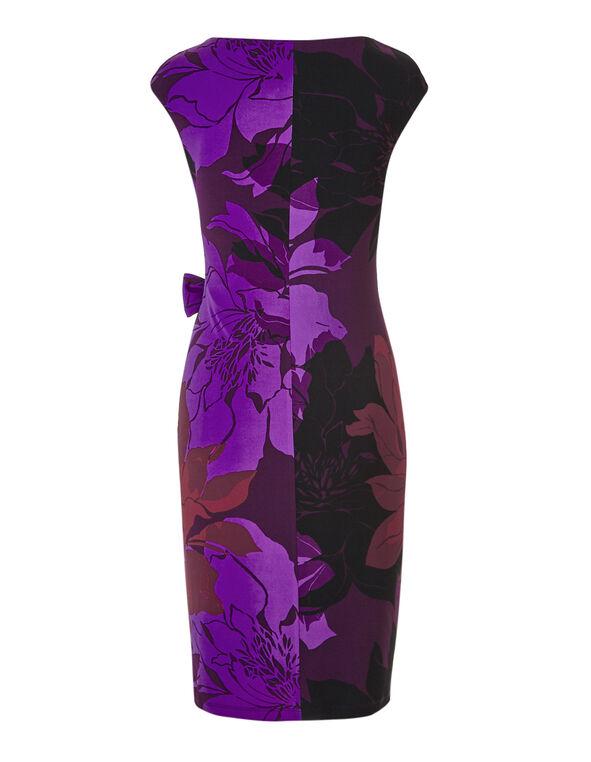 Purple Tie Wasit Dress, Purple, hi-res