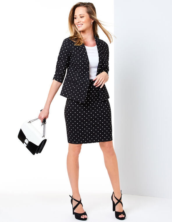 Polka Dot Suit Look, , hi-res