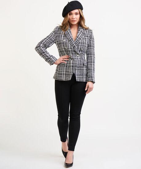 Dex Black Tape Tweed Blazer, Black/White Plaid, hi-res