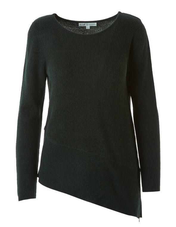 Spruce Side Zip Sweater, Spruce, hi-res