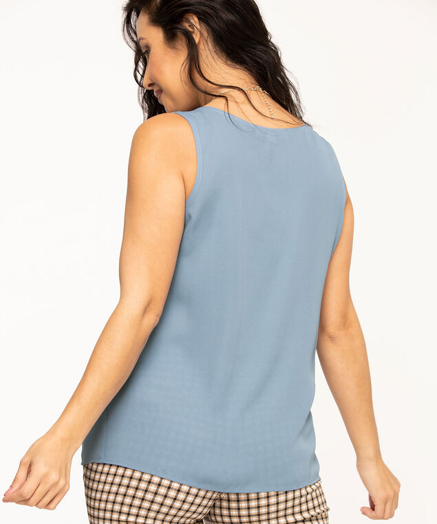 Sleeveless Woven Blouse, Sky Blue