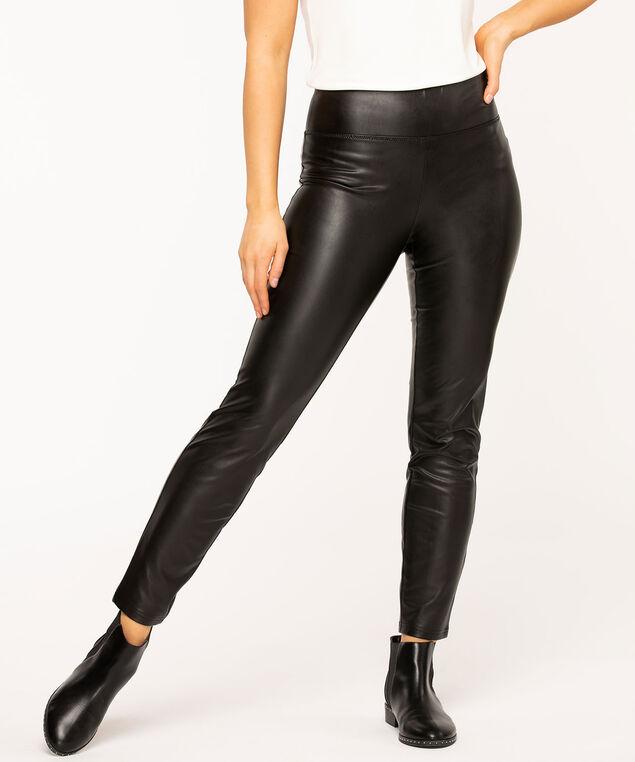 Vegan Leather Legging, Black