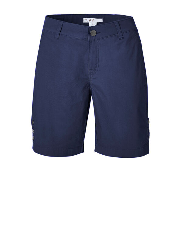 Summer Navy Poplin Bermuda Short, Summer Navy, hi-res