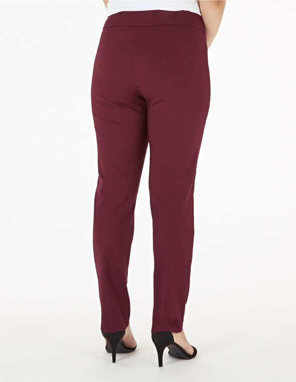 Merlot Pull On Slim Pant, Merlot, hi-res