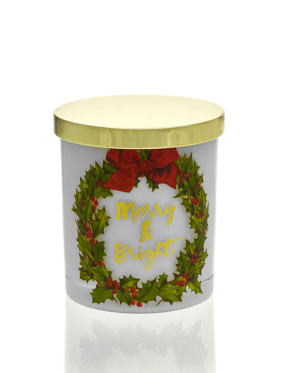 Merry & Bright Candle, White, hi-res