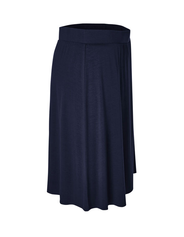 Navy Pull On Skirt, Navy, hi-res