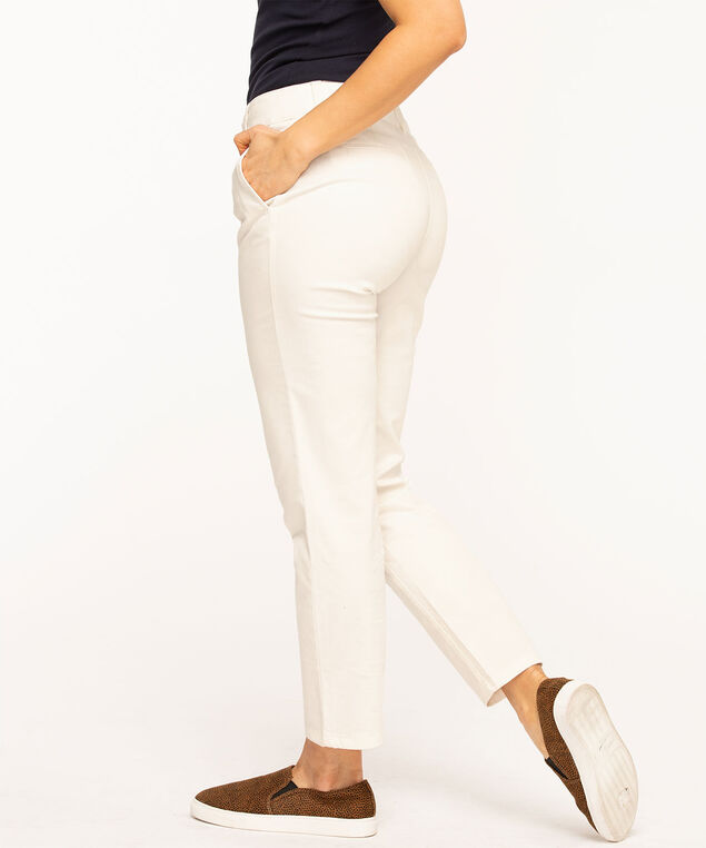Slim Chino Ankle Pant, White