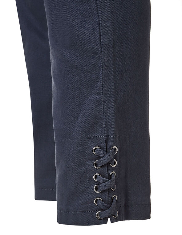 Navy Cotton Ankle Slim Leg Jean, Navy, hi-res
