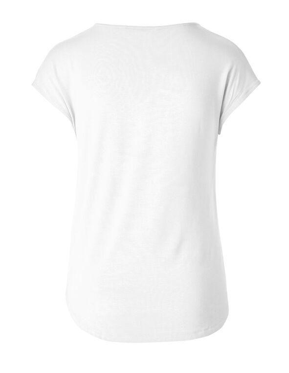 White Pleated Top, White, hi-res