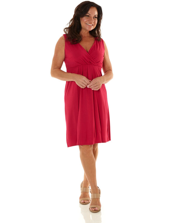 Hot Pink Fit & Flare Dress, Hot Pink, hi-res