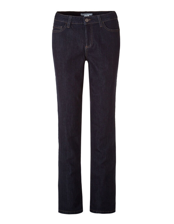 Dark Wash Curvy Straight Leg Jean, Dark Wash, hi-res