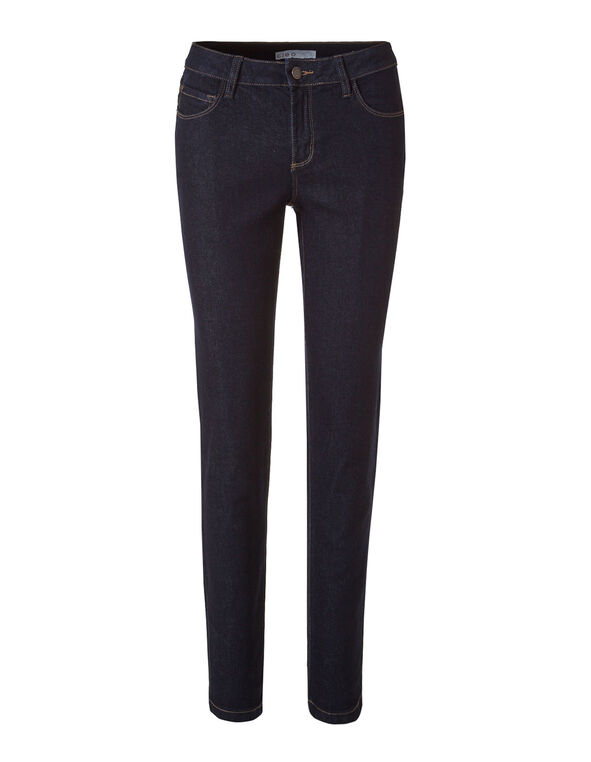 Curvy Dark Wash Slim Jean, Dark Wash, hi-res