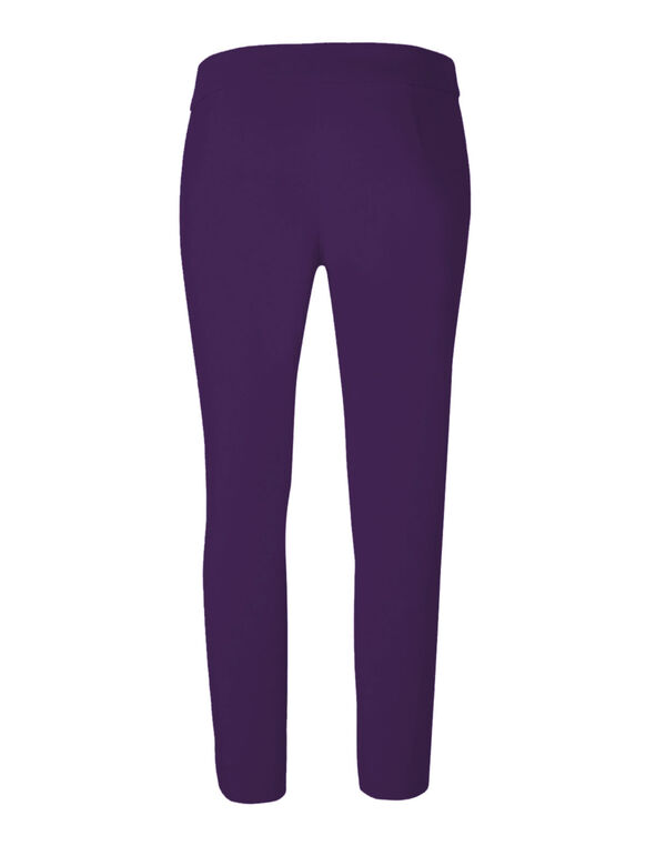 Dark Purple Ankle Pull On Pant, Dark Purple, hi-res