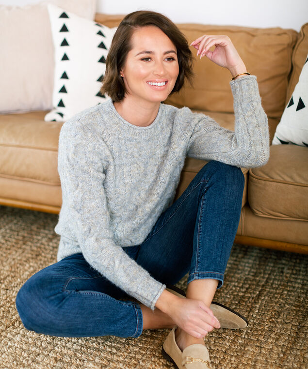 Cable Stitch Sweater Look,