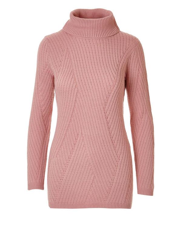 Pink Turtleneck Sweater, Pink Lady, hi-res