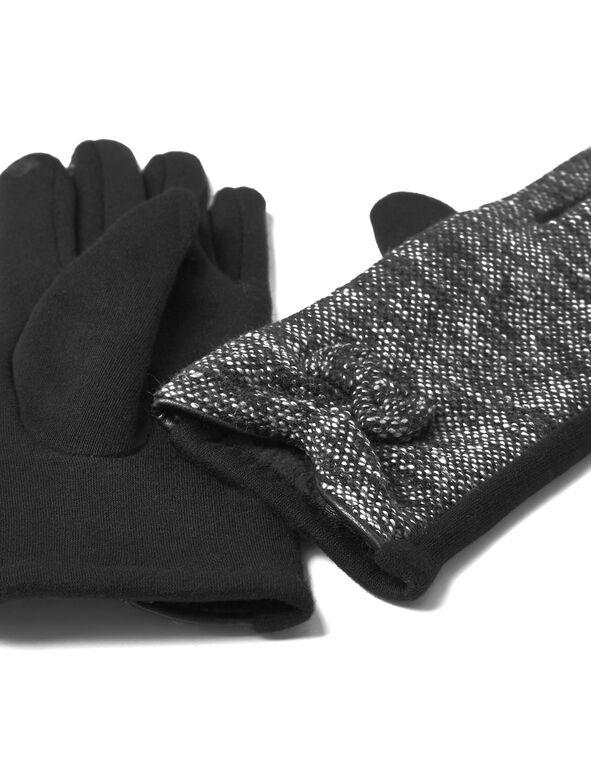 Tweed Text Gloves, Tweed, hi-res