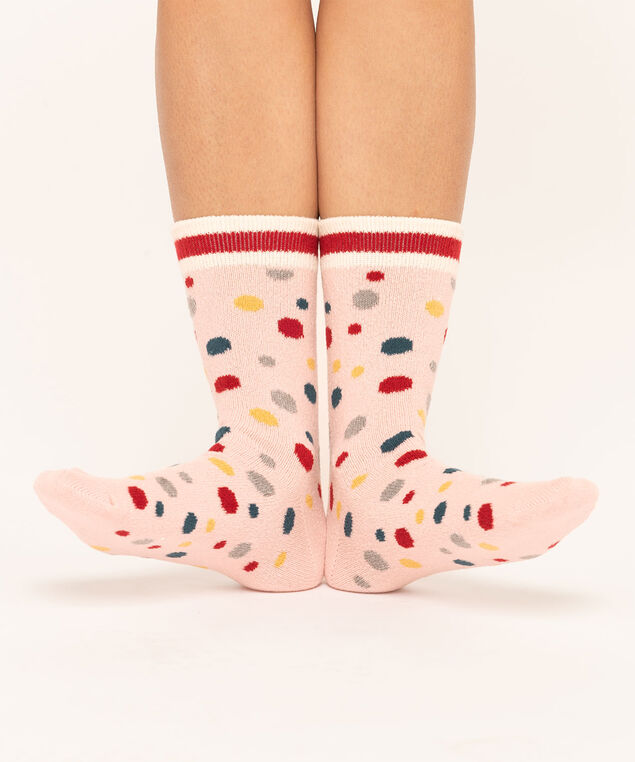 Dots & Stars Sock 2-Pack, Grey/Pink, hi-res
