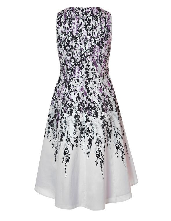 Purple Floral Dress With Pockets, Purple/Black, hi-res